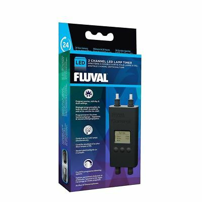Fluval Digital LED Dual Lamp Timer Eco Bright Aquasky Fish Tank Light