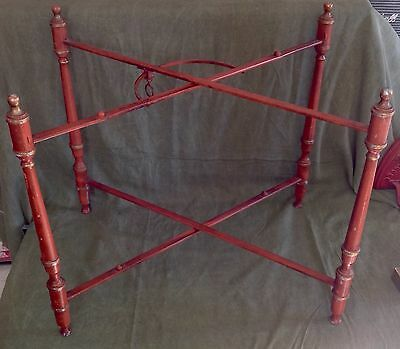 Vintage Metal Tole Tray Stand - Made In Italy - Original Finish - 2 Tier