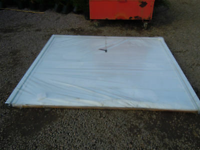 up and over garage door steel metal white with frame