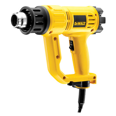 Dewalt D26411 Heat Gun 1800W Dual Air Flow 240V with Cone and Fish Tail Nozzles