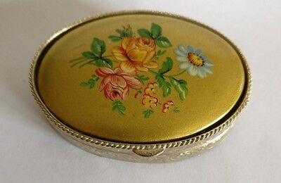 vintage large pill or trinket box