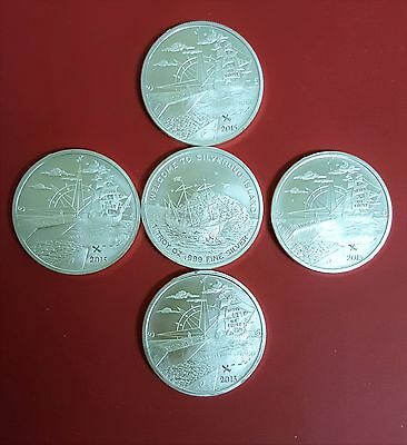 """""""FINDING SILVERBUG  ISLAND"""", 5 (Five) 1 OZ SILVER ROUNDS, (5 oz- 5 coins)"""