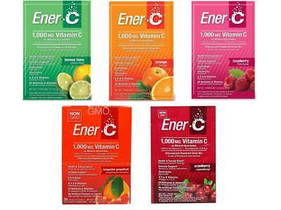 Ener-C Effervescent Powdered Energy Drink Mixed Case 5 or 30 Sachets