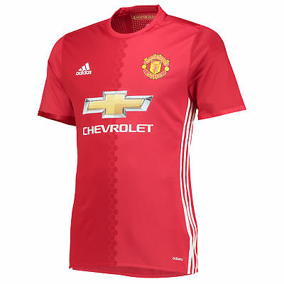 adidas Mens Gents Football Soccer Manchester United Home Adi Zero Shirt 2016-17