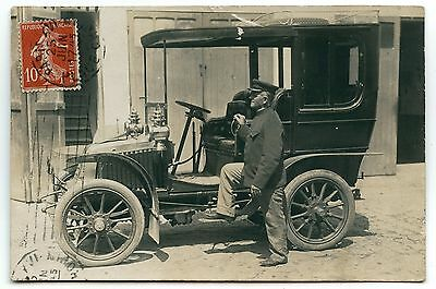 Carte Photo Voiture Ancienne .photo Card Old Car.renault 2 Cylindres