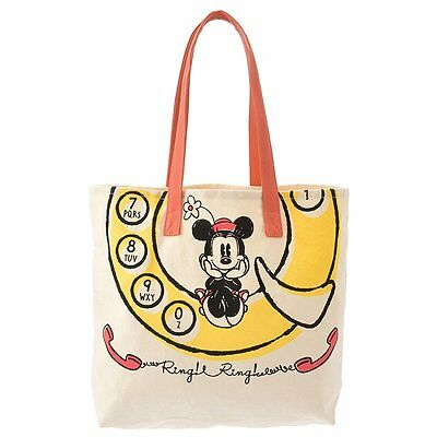 Japan Disney Store Mickey Mouse & Minnie Mouse Ring Ring Ring Tote bag