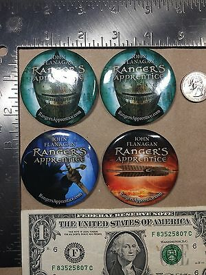 Lot of 4 Ranger's Apprentice John Flanagan Buttons NYCC Free Ship