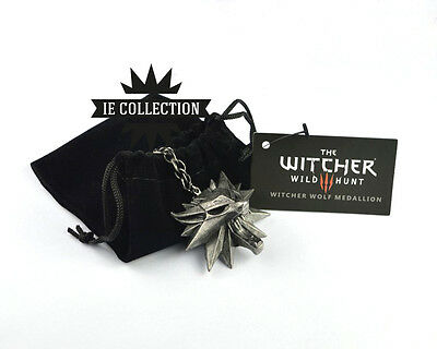 The Witcher 3 Locket Necklace Wolf Wild Hunt Geralt of Rivia Medallion ps4