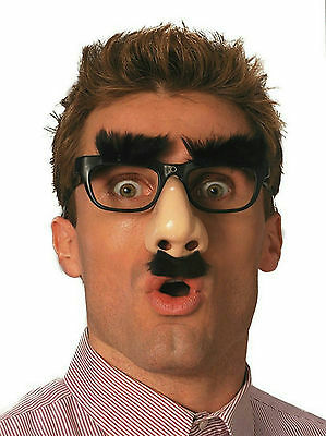 Mr. Boss Groucho Marx Funny Nose Disguise Glasses Bushy Eyebrows and Mustache
