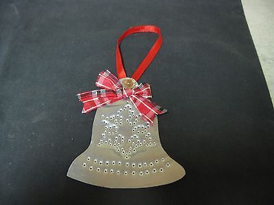 Collectible Metal Tin Christmas Bell Ornament