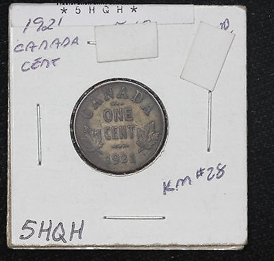 1921 Canada Small One Cent XF KM# 28
