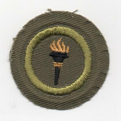 Public Health Merit Badge, Type E Khaki Narrow Crimped (1947-60), Mint!