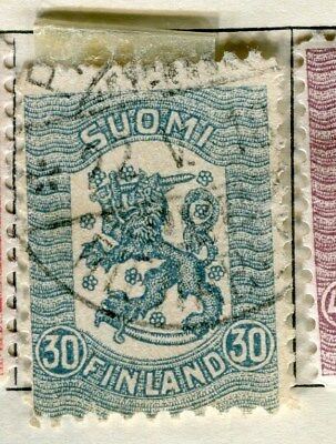 FINLAND;   1918 early definitive type used 30p. value