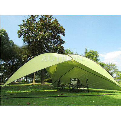 Green Triangle Shade Shelter Beach Canopy Camping Hiking Tent Portable Outdoor