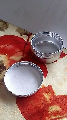 50-- 50ml Tin cosmetic, lip balm,lotion containers