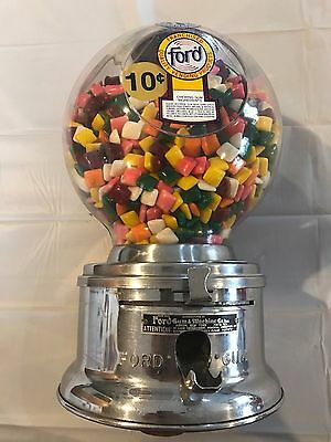 Vintage Ford Gumball Machine Plastic Dome 10 Cent P002849