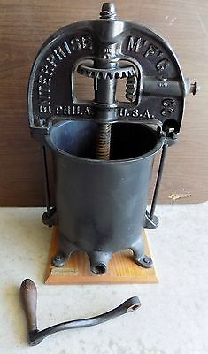 Enterprise 6 Qt Sausage Stuffer Lard Fruit Wine Cider Press Cast Iron Complete
