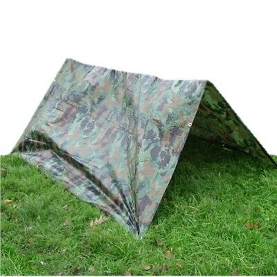 Kids Army Camo Tarp Sheet 100% Waterproof Polyethylene Tarpaulin Cover Boys Den