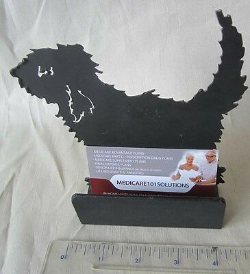 ~~OTTERHOUND  Black Metal Business Card Holder