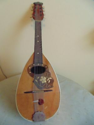 Musical Instrument Mandolin Beautiful Wrought And Inlaid Two Spots Slightly Rais