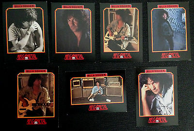Billy Squier - Set Of 7 Mega Metal Impel Cards From 1991. Rock Metal Music