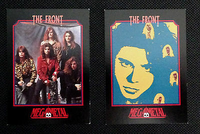 The Front - Set Of 2 Mega Metal Impel Cards From 1991. Rock Metal Music