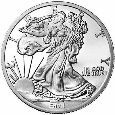 Sunshine Mint Walking Liberty 1 oz Silver Round | Direct From Mint Tubes