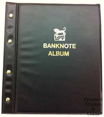 VST Banknote album with six 3-pocket banknote pages -Brand New - Black cover