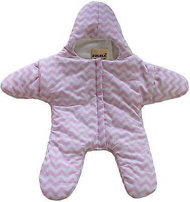 ZOEREA Newborn Infant Baby Bunting Bag Winter Thick Starfish Sleeping Bag Pink