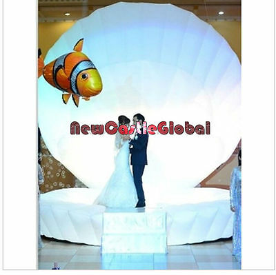 Custom made pu coated oxford  inflatable clam shell /led stage performance party