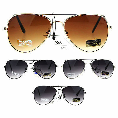 Air Force Mens Metal Wire Rim Gradient Lens Police Aviator Sunglasses