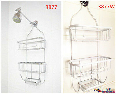3Tier White Coated Hanging Shower Caddy Organizer Storage Rack Shelves HXZ53877W