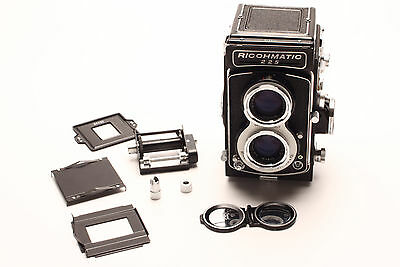 Clean, tested Ricohmatic 225 TLR Film Camera with rare Colorback 225 for 35mm