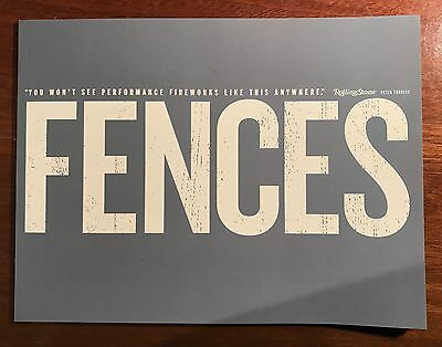 Fences Movie Promo Consideration Book