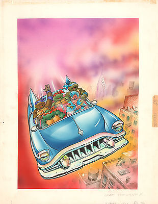 Teenage Mutant Ninja Turtles Escape from Dimension X Cover art by Isidre Mones