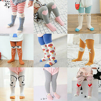 Infant Kids Baby Cartoon Cotton Tights Socks Toddler Stockings Hosiery Pantyhose