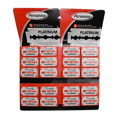 Personna Red Pack Israeli Double Edge Safety Razor Blades (100 Blades)