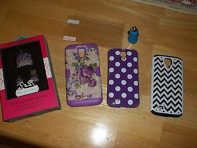 Samsung Galaxy s4 Phone Cases, Rhinestone Wall/USB Charger Plus More.