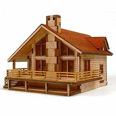 Desktop Wooden Model Kit Garden House A with a large deck by YOUNGMODELER UK