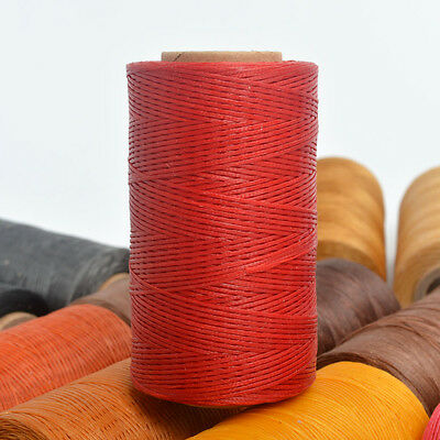 260m/284yards Spool Red 1mm Flat Leather Sewing Waxed Thread For leathercraft