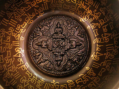 NEPALESE HANDMADE TIBETAN Singing Bowl WITH BLESSED MANTRA