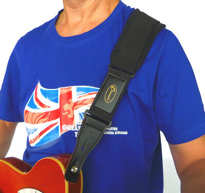 Super Comfort Padded Guitar Or Bass Stretch Strap By Clearwater
