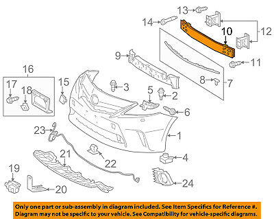 TOYOTA OEM 10-11 Prius Front Bumper-Tow Hook Eye Cap Cover Left 5212847900