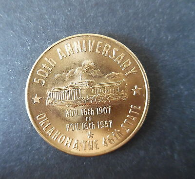 1957 Oklahoma 50th Anniversary of Statehood Medal