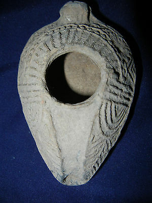 Ancient Roman Red Clay Oil Lamp 2Nd - 3Rd Century Ad