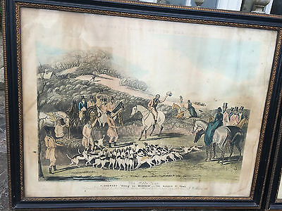 Set 4 Antique Plates Prints Moores Tally Ho To The Sport Tipperary 1852/53