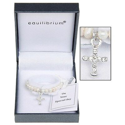 Equilibrium Jewellery - Fresh Water Pearl Christening Bracelet 7080