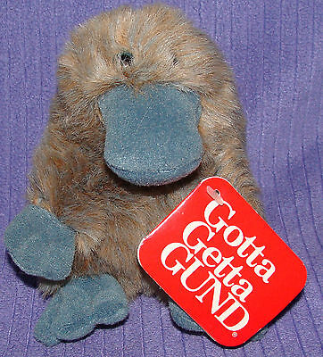 "Gund Platypus Webber 1220 Vintage 1980 Paper Tag Highly Collectible 6"" Tall  ~ Z"