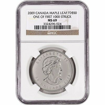 2009 1 oz Palladium Maple Leaf - Graded by NGC MS 69 - One of 1st 1000 Struck!!!