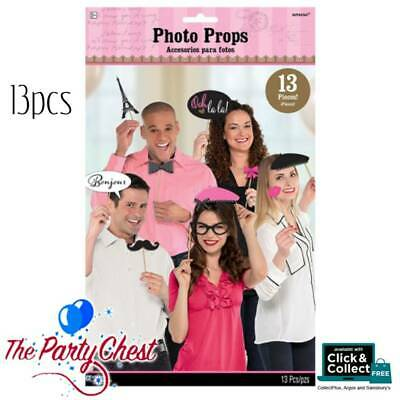 A DAY IN PARIS PHOTO PROPS Party Photo Booth Selfie Props Party Decoration 39818